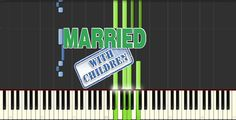 Married with Children Theme Song (Piano Tutorial) - Synthesia