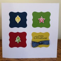 Stampin' Up! project made using curly label punch & merry mini punches & stamps.