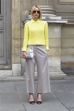 ON THE STREET AT PARIS FASHION WEEK 2012 (love this sweater!)