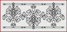 haft czarny - blackwork // I am proficient at Blackwork, is this an option? Blackwork Cross Stitch, Blackwork Embroidery, Cross Stitch Borders, Cross Stitching, Cross Stitch Embroidery, Embroidery Patterns, Hand Embroidery, Cross Stitch Patterns, Embroidery Needles