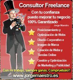 Consultor freelance diseño web posicionamiento seo marketing