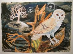 """Owl Flight"" ""Fox"" ""The Owl and The Fox"" ""Red Lion"" ""The Owl and The Moon"" Mark Hearld is one of my all time favorit."