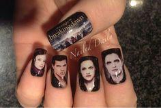 Twilight Nails The Best Of Hilariously Awkward Nail Art Twilight Saga Quotes, Twilight Book, Cute Nails, Pretty Nails, Twilight Edward, Twilight Breaking Dawn, Nikki Reed, Nail Art, Cute Nail Designs
