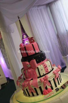 Eiffel Tower - Paris Themed cake