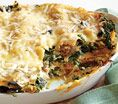Spinach Lasagna: Recipes: Self.com : These noodles have oodles of satisfying umami, owing to onions, chicken stock, spinach and Parmesan. #SELFmagazine