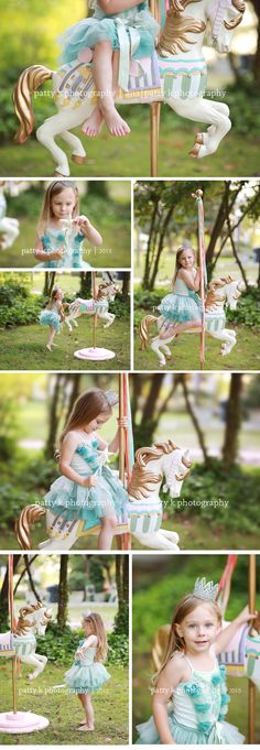 Carousel Horse Minis | Imagination Session | Lily | Raeford, NC Child Photographer | Patty K Photography