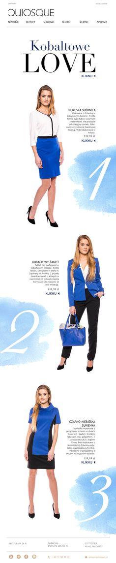 Kobaltove Love w sklepie internetowym Quiosque.pl  #newsletter #kobalt #fashion