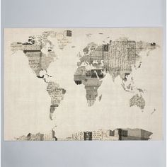 Shop for iCanvas Michael Thompsett Vintage Postcard World Map Canvas Print Wall Art. Get free delivery On EVERYTHING* Overstock - Your Online Art Gallery Store! Get in rewards with Club O! Postcard Printing, Postcard Art, Canvas Wall Art, Wall Art Prints, Canvas Prints, Wall Mural, Canvas Canvas, Canvas Size, Cotton Canvas