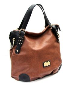 Another great find on #zulily! Tan & Black Two-Tone Tote by 1928 #zulilyfinds