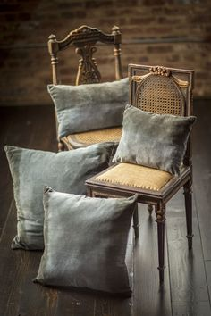 Velvet Grey Tonal Cushion Covers with Cotton Back