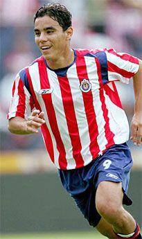 Omar Bravo in Club Deportivo Guadalajara jersey, playing for the sister team