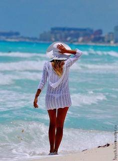 Tunica de Crochet para ir a la Playa Patron - Patrones Crochet