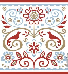 / folk style art/ scandinavian style / courtesy of the artist / challis and roos / Scandinavian Christmas, Scandinavian Style, Red Candles, Folk Fashion, Designs To Draw, Poster Prints, Sky, Canvas, Drawings