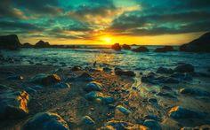 Landscapes | sunset landscapes nature seas shore fresh new hd wallpaper