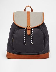 ASOS Canvas Backpack $42.00