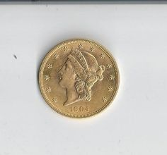 1904 Liberty 20 Dollar MS63 Gold Piece by COLLECTORSCENTER on Etsy