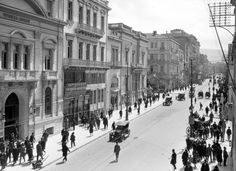 ΑΘΗΝΑ ΟΔΟΣ ΣΤΑΔΙΟΥ 1926 Greece Pictures, Old Pictures, Athens, Olympia, The Past, Louvre, Street View, Building, Travel