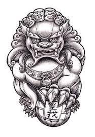 Afbeeldingsresultaat voor foo dog climbing tattoo