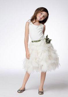 Scoop Princess Tulle Zipper up Knee Length Sleeveless Flower Girl Dresses