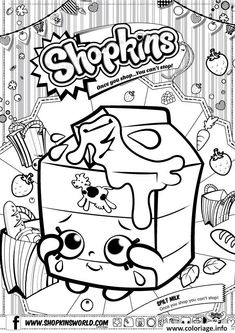 Shopkins Coloring Pages Season 1 Spilt Milk