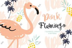Pink flamingo by OJardin on @creativemarket