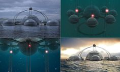 Could we all soon be sleeping with the fishes? Designer creates incredible futuristic city where people live beneath the waves