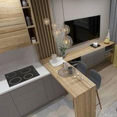 27 Modern Kitchen Interior Design That You Have to Try Kitchen Room Design, Modern Kitchen Design, Home Decor Kitchen, Modern Interior Design, Interior Design Living Room, Kitchen Ideas, Kitchen Layout, Kitchen Inspiration, Minimal Kitchen
