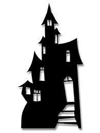 """Set the scene at your party with this enormous 1.9m Haunted House cutout measuring 186cm H / 73"""" / 6'1."""
