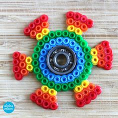 DIY Fidget Spinners with Fuse Beads aka Perler Beads (almost done!) by Wendy Copley for Alphamom.com