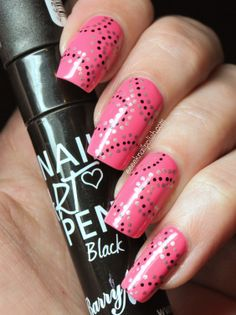 BarryM Nail Art pen Mani and a possible solution for Posting Polish overseas!!!!