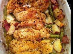 Garlic & Lemon Chicken with Green Beans & Red Potatoes Recipe