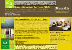 KCS is offering best service for congested bathrooms, leakage seepage and waterproofing issues. We are specialized in Chemical Water Proofing Treatment of Bathroom Leakage Seepage. Call 0333...