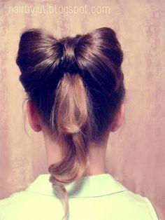 HAIR BY JUL- blog o włosach. Fryzury, tutoriale, inspiracje: Kokarda krok po kroku