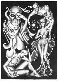 Hannes Bok, The Grey Powers 1945.