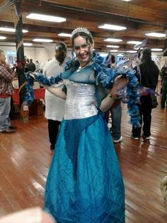 Belsnickle Faire 2013 in snowy blues and whites to represent the Snowmaiden :) #Fairy #Princess #Yule