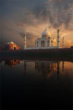 """Taj Mahal"", Monument in Agra, India - Wonders of the World/Maravillas del mundo, monumento Places Around The World, The Places Youll Go, Places To See, Around The Worlds, Taj Mahal India, Goa India, North India, Delhi India, Beautiful World"