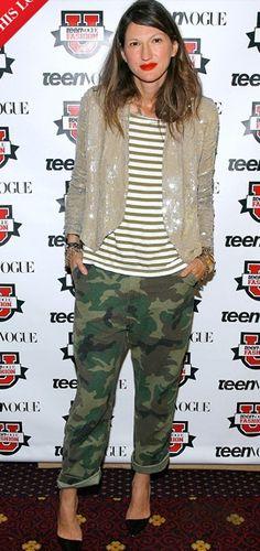 My style icon - Jenna Lyons Teen Vogue Fashion, Look Fashion, Fashion Clothes, Mode Style, Style Me, Sequins And Stripes, Estilo Olivia Palermo, Jenna Lyons, Army Pants