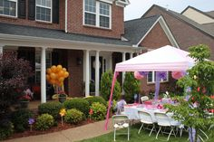 Rapunzel Birthday Party. Tangled Birthday Party. We released gold balloons just like Rapunzel's lanterns!