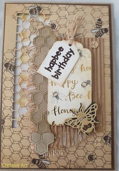 Creative Art, Bee, Greeting Cards, Birthday, Frame, Amazing, Home Decor, Picture Frame, Birthdays