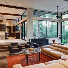 Sunken Living Room Design Ideas, Pictures, Remodel, and Decor