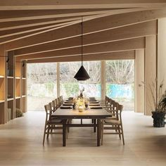 Repost @scandinavian.man Interior from the Private Dining Room of noma's new restaurant in Copenhagen, covered with Dinesen Douglas floor on all surfaces. The planks are used for both flooring, wall cladding, shelving units, and ceiling and the Douglas planks also cover the pillars supporting the roof. Design by Bjarne Ingels Group and Studio David Thulstrup #furniture made by #brdrkruger #interior #interiors #interiordecor #interiorstyle #interiorinspo #scandinavianinterior #interiorstyle