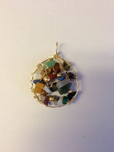 Multi Stone Pendant by Texanstyle on Etsy, $24.00