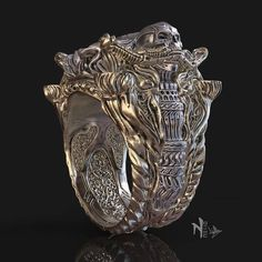 Gothic Jewelry Rings Jewelry design I made with zbrush: Famine Ring by nello. Skull Jewelry, Gothic Jewelry, Jewelry Art, Jewelry Rings, Jewelery, Jewelry Design, Diamond Jewelry, Best Men's Jewelry, Mens Skull Rings