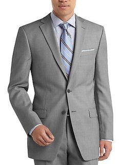CALVIN KLEIN CK Wool Sportcoat 46 Long 46L Gray Slim Fit Suit-Separates $350