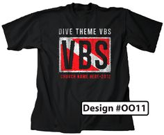 Diving VBS Theme Shirt Design