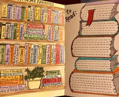 Favorite books and books to read! #bujo #bulletjournal