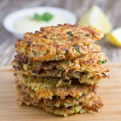 Quinoa Fritters with Healthy Garlic Aioli. Vegetarian, Paleo, GF and DF.
