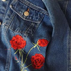 Roses are red jean jackets are usually blue, this picture is way more aesthetic than you! Kanye West, Hypebeast, Balenciaga, Streetwear, Grunge, Champion, Born To Die, Modern Disney, Red Aesthetic