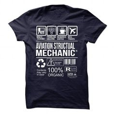 Awesome Shirt For Aviation Structual Mechanic - #green hoodie #movie t shirts. THE BEST => https://www.sunfrog.com/LifeStyle/Awesome-Shirt-For-Aviation-Structual-Mechanic-91440030-Guys.html?id=60505