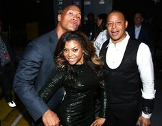 (L-R) Co-host Taraji P. Henson, actor Dwayne Johnson and co-host Terrence Howard attend Spike TV's Guys Choice 2015 at Sony Pictures Studios on June 2015 in Culver City, California. - Spike TV's Guys Choice 2015 - Backstage and Audience The Rock Dwayne Johnson, Dwayne The Rock, Rock Johnson, Serie Empire, Most Popular Tv Shows, Spike Tv, Taraji P Henson, Singles Events, Jada Pinkett Smith